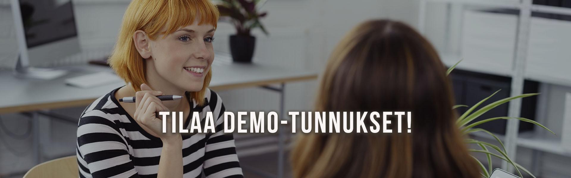 Tilaa Tehoste-rekrytointijärjestelmän demo-tunnukset